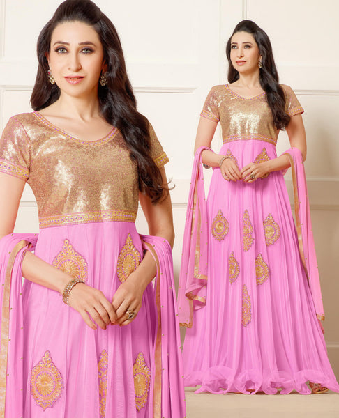 The Karishma Kapoor Collection:atisundar enticing Pink embroidered Party Wear Anarkali - 6784 - atisundar - 4 - click to zoom