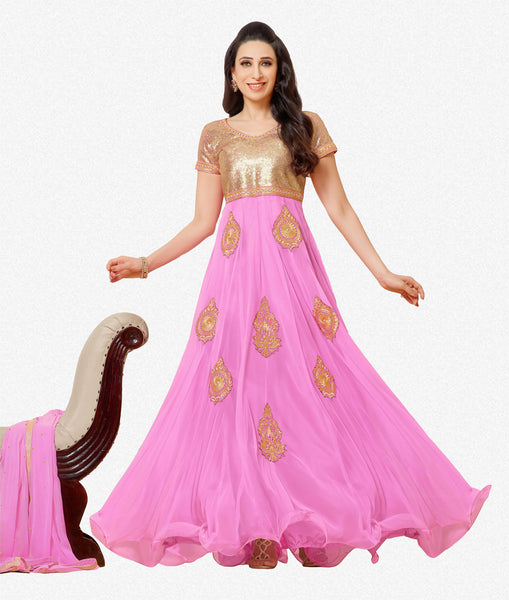 The Karishma Kapoor Collection:atisundar enticing Pink embroidered Party Wear Anarkali - 6784 - atisundar - 1 - click to zoom