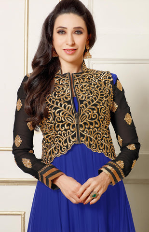 The Karishma Kapoor Collection:atisundar fair Blue embroidered Party Wear Anarkali - 6787 - atisundar - 3