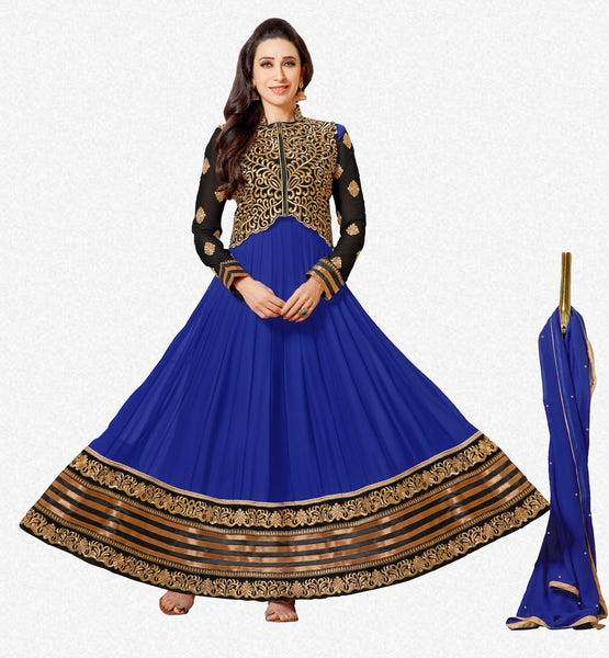 The Karishma Kapoor Collection:atisundar fair Blue embroidered Party Wear Anarkali - 6787 - atisundar - 1 - click to zoom