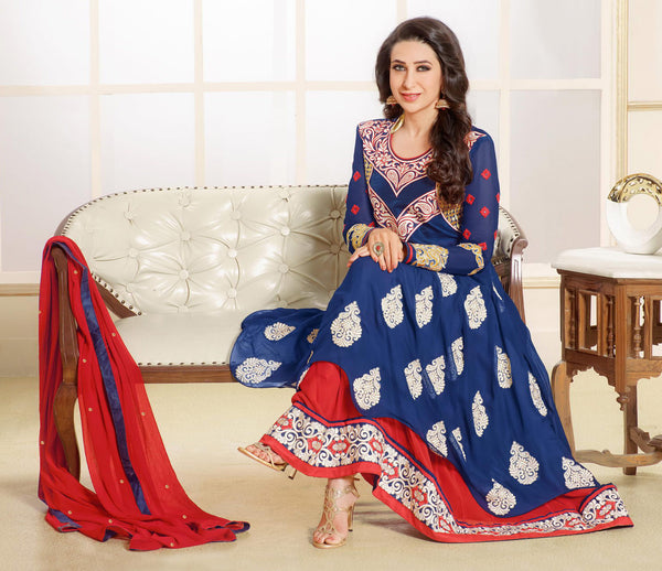 The Karishma Kapoor Collection:atisundar excellent Blue embroidered Party Wear Anarkali - 6789 - atisundar - 4 - click to zoom