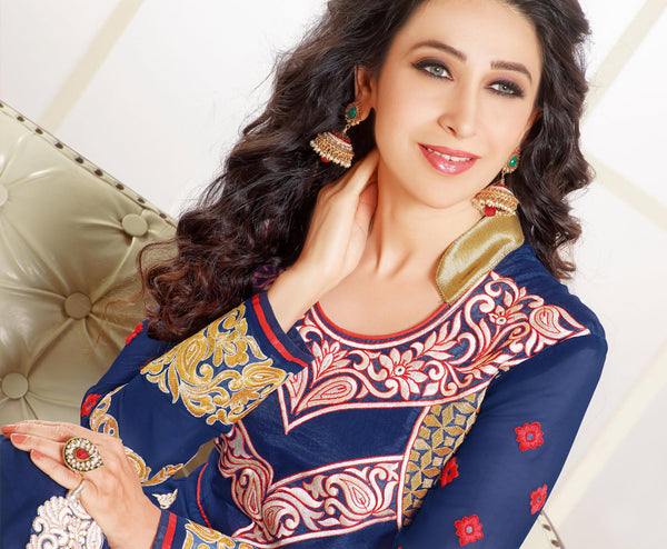 The Karishma Kapoor Collection:atisundar excellent Blue embroidered Party Wear Anarkali - 6789 - atisundar - 3 - click to zoom