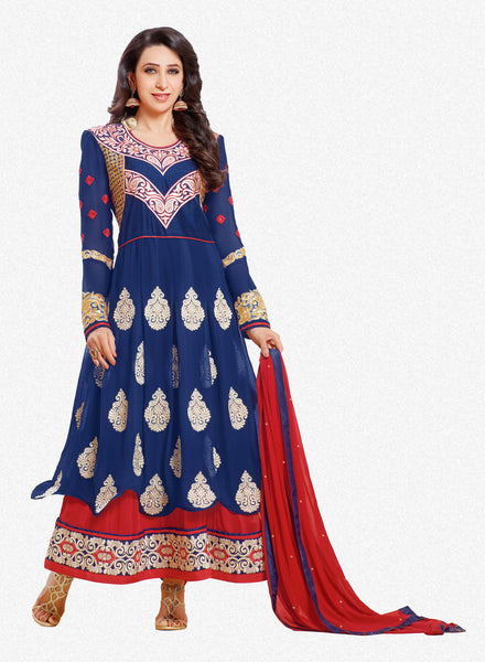 The Karishma Kapoor Collection:atisundar excellent Blue embroidered Party Wear Anarkali - 6789 - atisundar - 1 - click to zoom