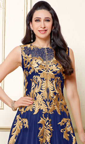 The Karishma Kapoor Collection:atisundar refined Blue Anarkali - 9879 - atisundar - 2