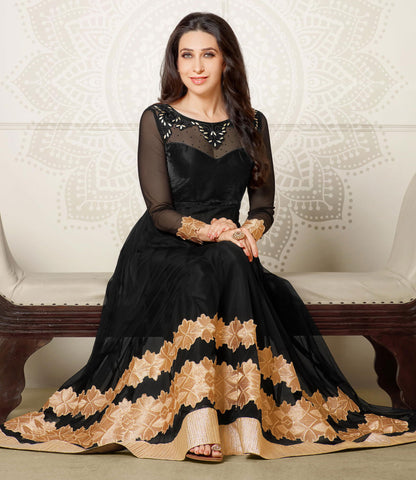 The Karishma Kapoor Collection:atisundar magnificent Black embroidered Party Wear Anarkali - 6793 - atisundar - 1 - click to zoom