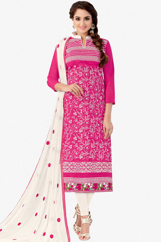 Designer Straight Cut:atisundar delightful Pink Designer Embroidered Party Wear Straight Cut - 12739 - click to zoom