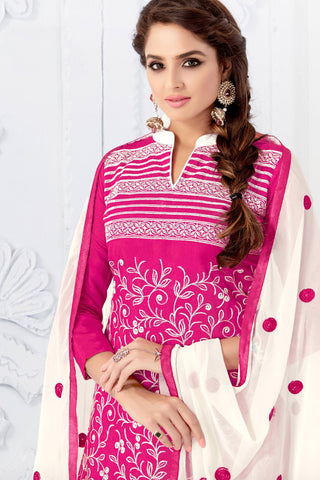 Designer Straight Cut:atisundar delightful Pink Designer Embroidered Party Wear Straight Cut - 12739