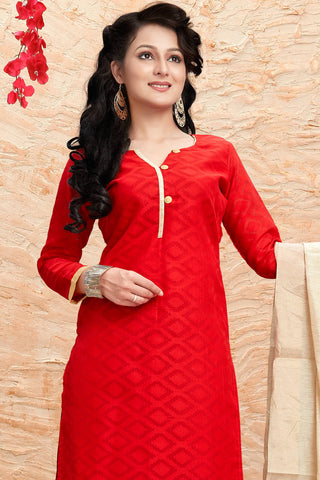 Designer Straight Cut:atisundar appealing Red Designer Party Wear Straight Cut - 13182