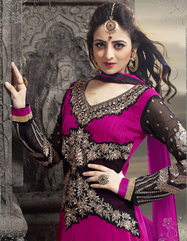 Elegant Collection For Special Occasion:atisundar lovely   in Pink And Black - 5183 - atisundar - 4
