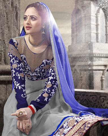 Elegant Collection For Special Occasion:atisundar admirable   in Gray And Blue - 5184 - atisundar - 3 - click to zoom