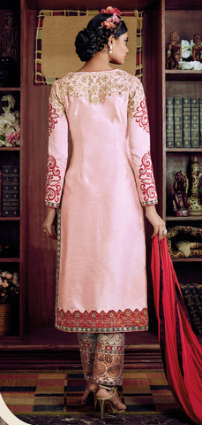 Desiner Stright cut:atisundar fascinating Pink Designer Straight Cut  - 8661 - atisundar - 4 - click to zoom