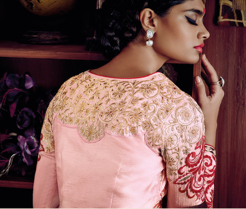 Desiner Stright cut:atisundar fascinating Pink Designer Straight Cut  - 8661 - atisundar - 5 - click to zoom
