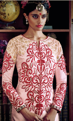 Desiner Stright cut:atisundar fascinating Pink Designer Straight Cut  - 8661 - atisundar - 3 - click to zoom