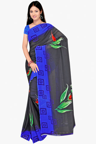 Designer Party wear Saree:atisundar Alluring Designer Sarees in Grey And Blue  - 11441 - atisundar - 1 - click to zoom