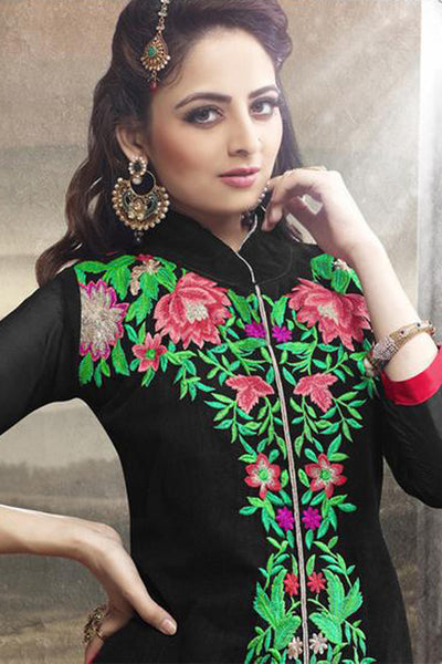Elegant Collection For Special Occasion:atisundar exquisite   in Black And Red - 5189 - click to zoom