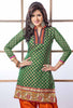 Embroidered Designer Patiala Suits In Cotton:atisundar stunning   in Dark Green - 5704 - atisundar - 4 - click to zoom