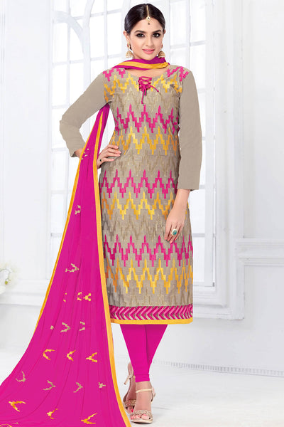 Designer Straight Cut:atisundar appealing Grey Designer Embroidered Party Wear Straight Cut - 12747 - click to zoom