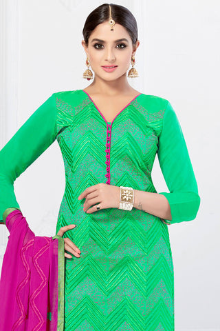 Designer Straight Cut:atisundar angelic Green Designer Embroidered Party Wear Straight Cut - 12748