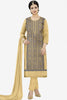 Designer Straight Cut:atisundar fair Light Brown Designer Party Wear Embroidered Straight Cut Featuring Ayesha Takia - 12700 - click to zoom