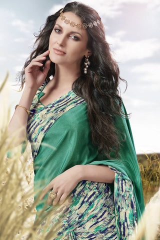 Designer Saree:atisundar Superb Designer Party Wear Saree in Green  - 13051