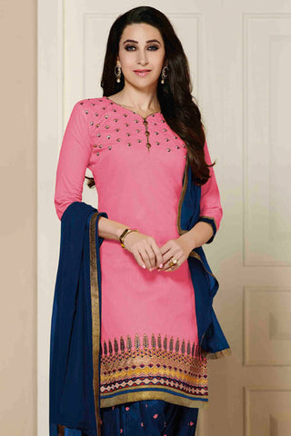 Designer Straight Cut:atisundar radiant Pink Designer Party Wear Straight Cut - 12861