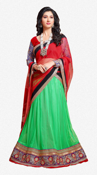 Disha Parmar Lehenga Collection:atisundar Beautiful Velvet  Lehenga in Red - 6833 - atisundar - 2 - click to zoom