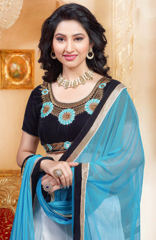Disha Parmar Lehenga Collection:atisundar bewitching Velvet  Lehenga in Black - 6834 - atisundar - 5