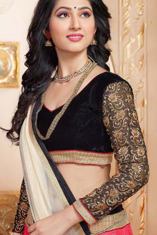 Disha Parmar Lehenga Collection:atisundar dazzling Velvet  Lehenga in Black - 6835 - atisundar - 6