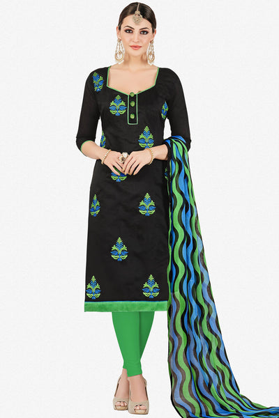 Designer Straight Cut:atisundar admirable Black Stylish Casual Wear Straight Cut - 12762 - click to zoom