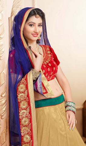 Disha Parmar Lehenga Collection:atisundar magnificent Velvet  Lehenga in Red - 6836 - atisundar - 5