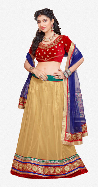 Disha Parmar Lehenga Collection:atisundar magnificent Velvet  Lehenga in Red - 6836 - click to zoom