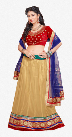 Disha Parmar Lehenga Collection:atisundar magnificent Velvet  Lehenga in Red - 6836 - atisundar - 2 - click to zoom