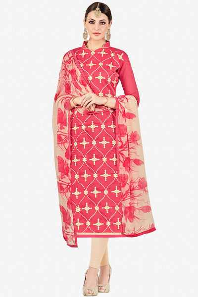 Designer Straight Cut:atisundar splendid Pink Stylish Casual Wear Straight Cut - 12763 - click to zoom