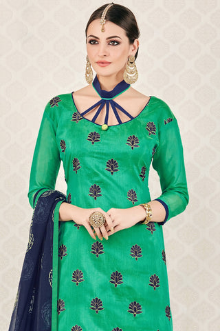 Designer Straight Cut:atisundar gorgeous Green Stylish Casual Wear Straight Cut - 12766