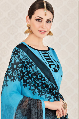 Designer Straight Cut:atisundar excellent Blue Stylish Casual Wear Straight Cut - 12768