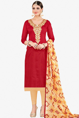 Designer Straight Cut:atisundar appealing Red Stylish Casual Wear Straight Cut - 12771 - click to zoom