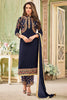 Designer Embroidered Heavy Suit With Embroidered Bottom:atisundar graceful Blue Designer Party Wear Straight Cut - 14753 - click to zoom