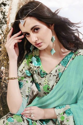 Designer Saree:atisundar bewitching Designer Party Wear Saree in Green  - 13060