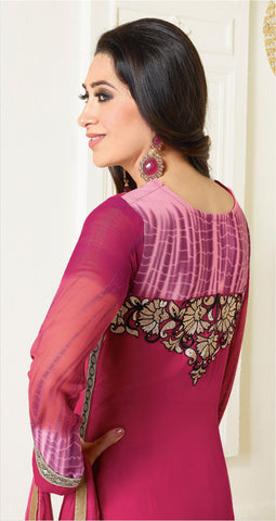 The Karishma Kapoor Collection:atisundar Lovely Pink Designer Straight Cut  - 6776 - atisundar - 3