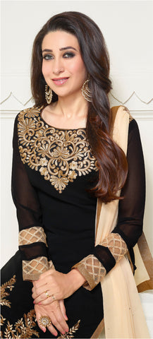 The Karishma Kapoor Collection:atisundar cute Black Designer Straight Cut  - 6778 - atisundar - 3