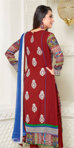 The Karishma Kapoor Collection:atisundar cute Red Designer Straight Cut  - 6780 - atisundar - 3