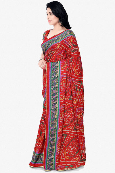 Designer Saree:atisundar Awesome Designer Party Wear Saree in Red  - 13766 - click to zoom