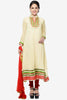 Designer Partywear Semistitched Anarkali:atisundar classy   in Cream And Pink - 5178 - click to zoom