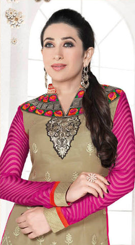 The Karishma Kapoor Collection:atisundar splendid Beige Designer Straight Cut  - 7462 - atisundar - 4