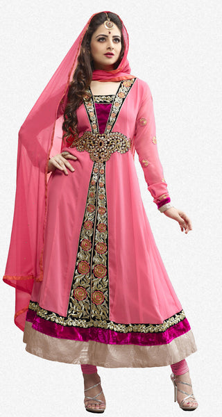 Elegant Collection For Special Occasion:atisundar charming   in Peach - 5185 - click to zoom