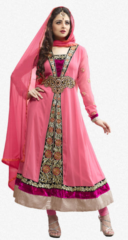 Elegant Collection For Special Occasion:atisundar charming   in Peach - 5185 - atisundar - 2 - click to zoom
