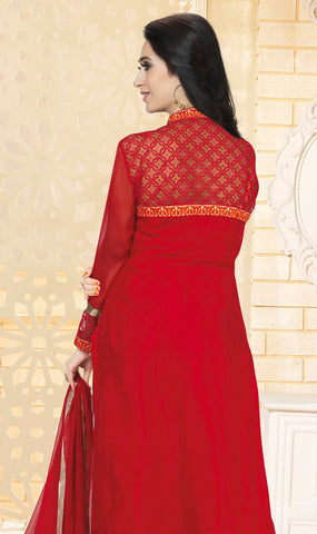 The karishma Kapoor Collection!:atisundar delicate Red Designer Straight Cut  - 7890 - atisundar - 2