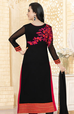The karishma Kapoor Collection!:atisundar Smart Black Designer Straight Cut  - 7891 - atisundar - 2