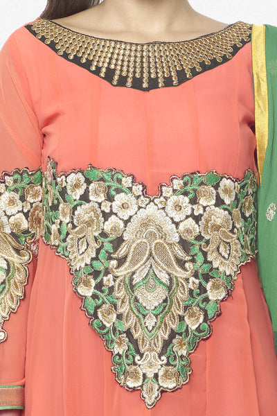 Elegant Collection For Special Occasion:atisundar beauteous   in Peach - 5193 - click to zoom