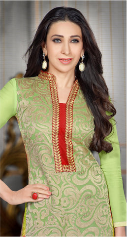 The Karishma Kapoor Collection:atisundar splendid Light Green Designer Straight Cut  - 7023 - atisundar - 4 - click to zoom